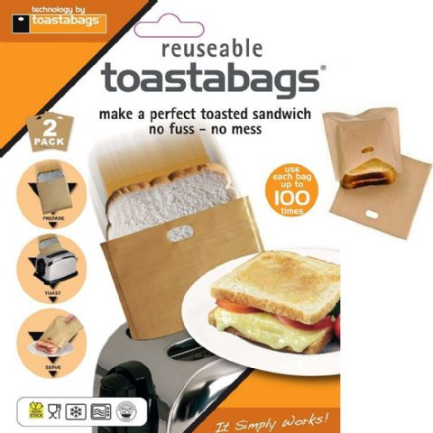 Pack 2 Toastabags 100 Toasted Sandwich Toaster Bags